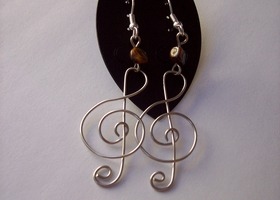 Treble Clef Earrings
