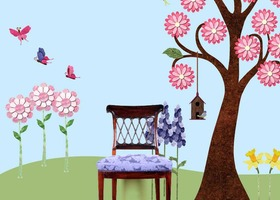 Splendid Garden Wall Sticker Kit