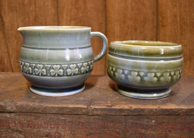 Antique Wade Petite Sugar & Creamer Set Irish Porcelain