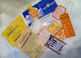 Lot of Authentic Antique Apothecary Labels