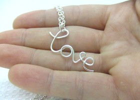 Love Necklace or Any Word Up to 8 Letters