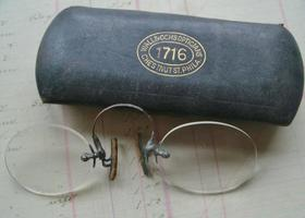 Antique Pince Nez with Original Case circa 1900