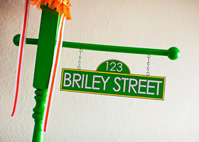 Personalized Sesame Street Inspired Birthday Party Street Sign