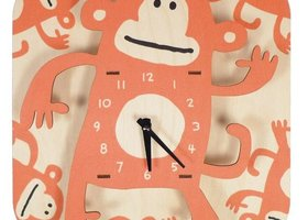 Art Wall Wooden Clock, Monkey
