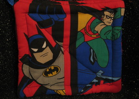 Batman & Robin Pot Holders Comic Book Kitchen Hot Pads Set 2 Superhero Gift