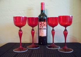Vintage Venetian Wine Glasses 4