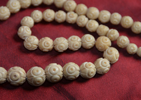 Antique Opera Length Pre-Ban Ivory Necklace