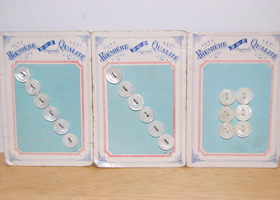 Vintage BGE Mother of Pearl Sew through Buttons