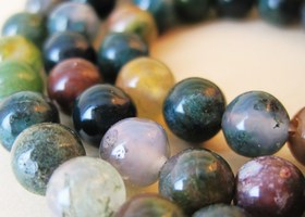 Genuine Fancy Jasper, a March Birthstone, 6mm Gemstone Beads, x30