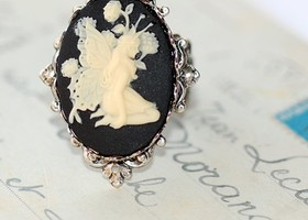 Gothic Fairy Filigree Ring