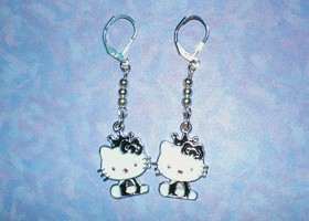 Hello Kitty Princess Silver Earrings