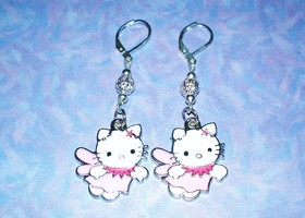 Hello Kitty Pink Angel Earrings