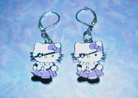 Hello Kitty Purple Pirate Earrngs