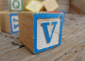 Old Vintage ABC blocks