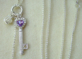Key & Crown Necklace