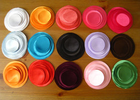 30 colors Satin Fabric Circles to burn edge and make fabric flowers