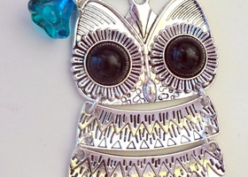 Large Owl Pendant Necklace