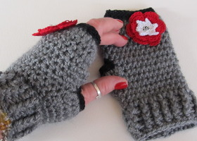 Fingerless Gloves 4 choices of colors