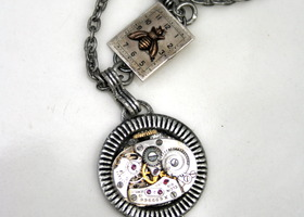 Vintage Watch Movement Steampunk Necklace