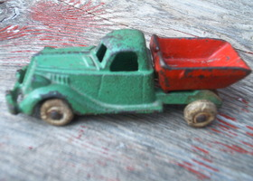 Hubley Truck Dump Antique Cast Iron Toy Stamped Original Rare Collectible