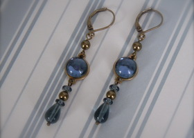 Dangle Earrings Montana Blue
