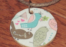 OOAK cute bird necklace