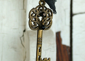 Victorian Inspired Skeleton Key Necklace