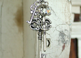 Which Key? Silver Toned Necklace