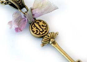 Asian Inspired Key Necklace
