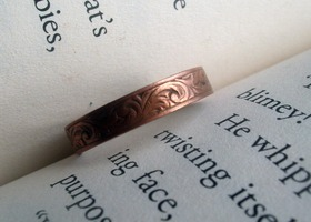 Ornate Copper Band Ring