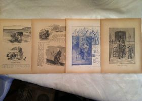 10 Children's Book Illustrations - Circa 1896