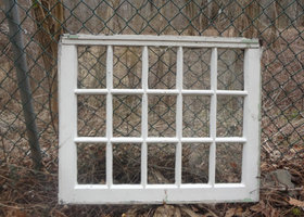 Old 15 Pane Window upcycling project.