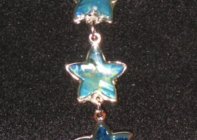 Lovely Silver and Stone Star Bracelet