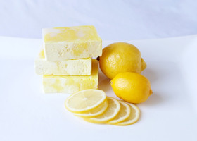 Lemon Vegan Swirl  Soap