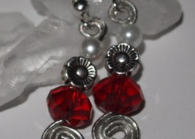 2 Pair of Handcrafted Crystal Earrings