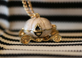 Cinderella/Pumpkin Carriage Locket Necklace