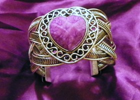 purple heart bangle