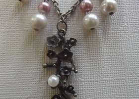Cherry Blossom Pearl Necklace
