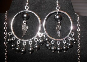 Wings!!!! Necklace Earring Set