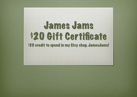 $20 Gift Certificate to James Jams
