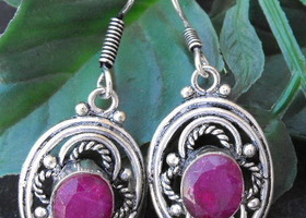 #WL100 -  2 Pair Gemstone Earrings
