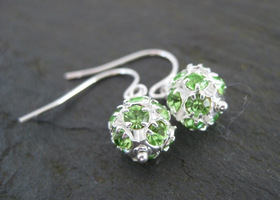 Dottie Earrings - Peridot Green