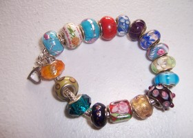Pandora style bracelet FULL with beads