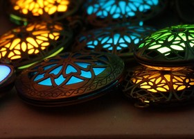 Pick Your Glow in the Dark  Locket Necklace