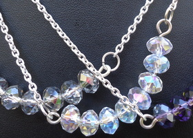 Sterling swarovski crystal necklace