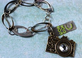 Camera Charm Bracelet -Smile Please