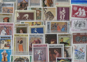 350 Mixed Colorful Foreign Stamps
