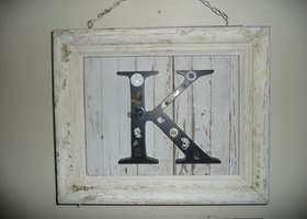 "steampunk watch gear ""k"" frame"