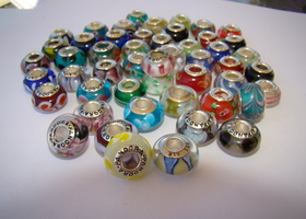 50pc glass murano and spacer bead