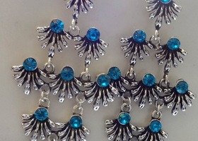 Peacock Blue Earrings
